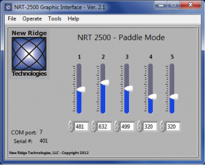 GUI for Paddle Mode